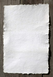 White paper - old, handmade paper, texture or background, document - very old paper for artistic writing with delicate stripes pattern
