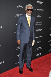 "LOS ANGELES, CA - MARCH 18, 2013: Morgan Freeman at the Los Angeles premiere of his movie ""Olympus Has Fallen"" at the Cinerama Dome, Hollywood."