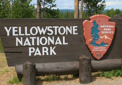 Entrance of Yellowstone National Park