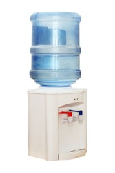Office Water Cooler isolated on white