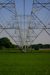 high-voltage line towers
