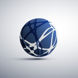 Abstract Globe Design, Technology Template