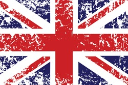 Grunge flag of United Kingdom - useful background