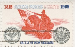 this is a Vintage 1962 Canceled US Stamp Battle of New Orleans