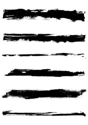 A set of grunge vector brush strokes (individual objects).  Nice grunge elements for your projects.