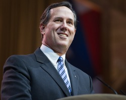 NATIONAL HARBOR, MD - MARCH 7, 2014: Former U.S. Senator Rick Santorum speaks at the Conservative Political Action Conference (CPAC).