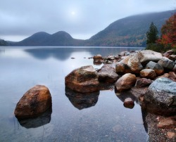 Jordan Pond In Autumn, Acadia National Park, Maine