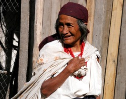 Old smiling woman from Ecuador - South America