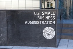 WASHINGTON, DC - DECEMBER 26: Sign outside the Small Business Administration in downtown Washington, DC on December 26, 2014.