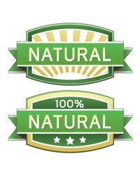 Natural food or product label - vector label good for web or print use