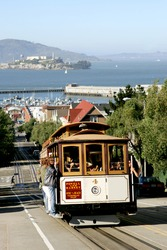 Cable Car on Hyde Street in San Francisco