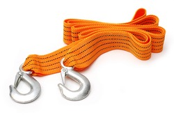 Towing rope isolated on a white
