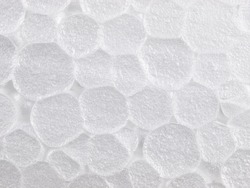High magnification styrofoam foam texture