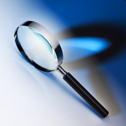Black and chrome magnifying glass