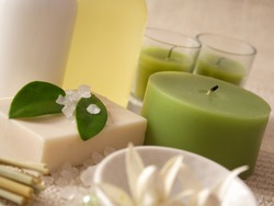 SPA products, cosmetics, suntan lotion