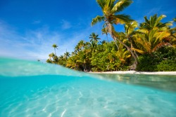 Cook Islands, South Pacific. Tropical vacation on exotic islands.