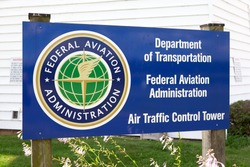LITITZ, PA - JULY 24: Sign for the Air Traffic Control Tower at Lancaster Airport in Lititiz, PA on July 24, 2015.
