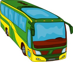 vector - color bus isoleted on background