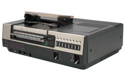 isolated oldschool videorecorder with path