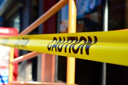 Caution tape used in New York/ Caution tape