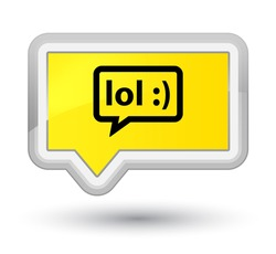 LOL bubble icon yellow banner button