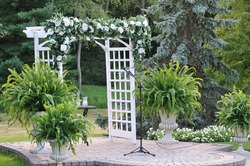 arch gate with flowers