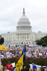 WASHINGTON - SEPTEMBER 12: Protesters rally against government tax and spending policies at the U.S. Capitol on September 12, 2009 in Washington.