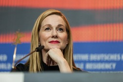 Berlin, Germany - February 16, 2016  - Actress Laura Linney attends the 'Genius' press conference during the 66th Berlinale International Film Festival