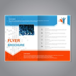 Brochures, flyers and book cover design