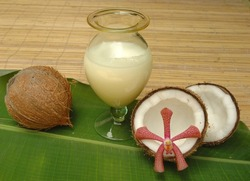 Coconut milk for alternative therapy