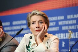 Emma Thompson attends the 'Alone in Berlin' (Jeder stirbt fuer sich) press conference during the 66th Berlinale Film Festival Berlin at  Hyatt Hotel on February 15, 2016 in Berlin, Germany.