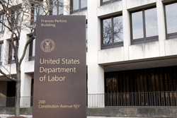 WASHINGTON, DC - NOVEMBER 12: United States Department of Labor in Washington, DC on November 12, 2015.