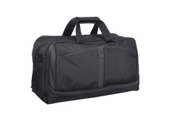 big black travel bag on white