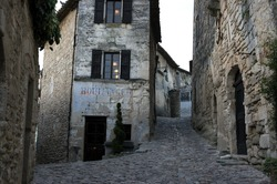 Streets of Lacoste village in provence
