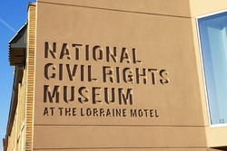 MEMPHIS - MAY 3: National Civil Rights Museum in Memphis on May 3, 2014. The Lorraine Motel is part of the museum and the site where Rev. Martin Luther King, Jr. was assassinated on April 4, 1968.