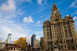 Wideangle shot of pier head in liverpol