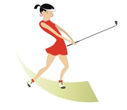 Golf illustrations