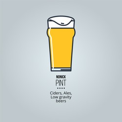 beer linear icons