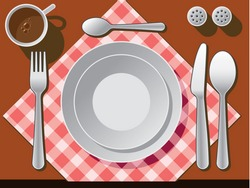 Place setting vector.
