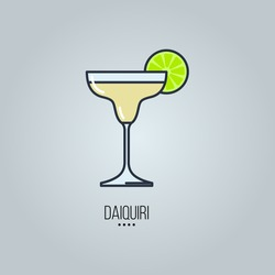 cocktails linear icons