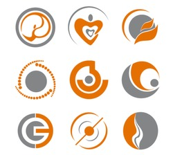 Set of different abstract symbols for design - also as emblem. Jpeg version is also available