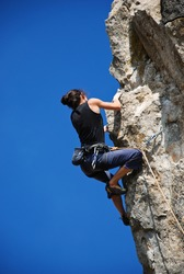 Extreme Sport. Climbing and Mountaineering