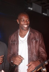 DALLAS - FEBRUARY 14: Buffalo Bill's receiver Terrell Owens interacts with the crowd at an event he hosted during NBA All Star weekend February 14, 2010 in Dallas, Texas.