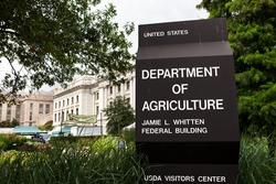 WASHINGTON, DC - JULY 17: Department of Agriculture Headquarters in Washington, DC on July 17, 2015.