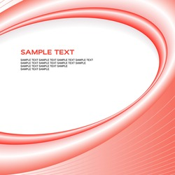 Elegant red vector background with copy space