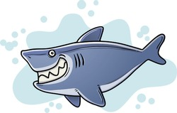 Illustration of Cartoon Fat Shark