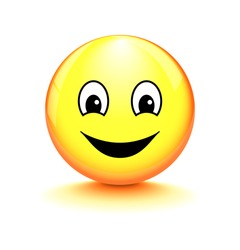 Smiley on white background
