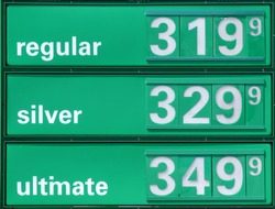 Very expensive gasoline prices.