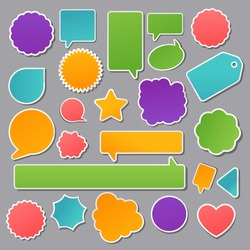 vector set of paper stickers