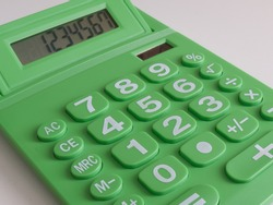 Green calculator which runs on solar power